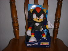 "SHADOW Sonic the Hedgehog 12"" plush TOMY USA seller new with tags New in the Box"