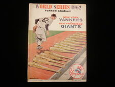 1962 World Series Program – San Francisco Giants @ New York Yankees