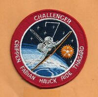 WILLABEE & WARD OFFICIAL SPACE PATCH  SHUTTLE CHALLENGER  STS-7 RIDE  4""