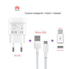 Original Huawei 9V 2A Schnell Ladegerät Netzteil Micro USB Kabel USB-C Adapter