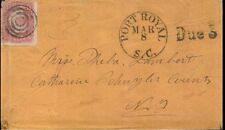 Port Royal, S.C. CDS, #65 Target Cancel. VF Manila cover with DUE 3 marking.
