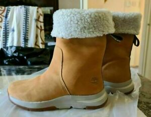 NEW womens TIMBERLAND mid calf boots fur lined size uk 5 eur 38 RRP £175
