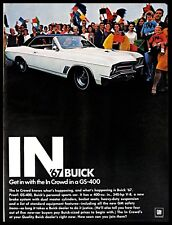 1966 Buick '67 GS-400 Vintage PRINT AD American Personal Sports Car Crowd People