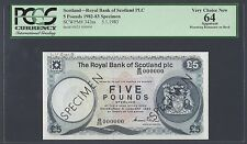 Scotland 5 Pounds 5-1-1983 P342as Specimen Uncirculated