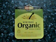 Westons Vintage Organic Still cider pump clip sign plastic resin coated