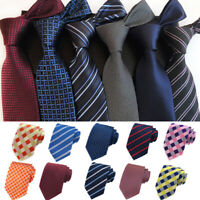 Wedding Business Striped lattice Necktie  Jacquard  Classic  Tie   Men