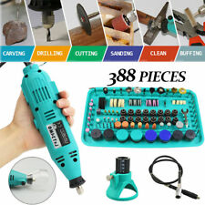 388PCS Electric Rotary Tool Drill Grinder Engraver Sander Polisher Carving Set