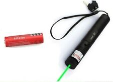 High Resolution Green Laser Pointer Lazer Light + Battery + Wrist Strap + 2 Keys