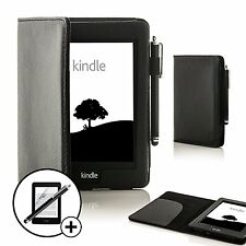 Forefront Cases Leather Black Smart Case Amazon Kindle Voyage Stylus Screen Prot