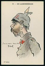 art Stick caricature Germany WWI ww1 war humor patriotic propaganda old postcard