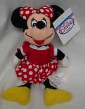 "Walt Disney MINNIE MOUSE IN CLASSIC RED DRESS 9"" BEAN BAG STUFFED ANIMAL NEW"