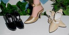 "Doll Shoes, Monique 72mm CREAM  ""Delightful Heels"" Fit Tonner American Model"