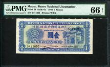Macau ( Macao ) 1945, 1 Pataca, P28, PMG 66 EPQ GEM UNC
