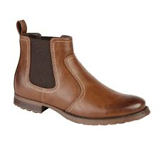 Mens Chelsea Ankle Boots Casual Smart Formal Faux Leather Dealer Work Shoes Size