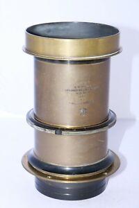 "Eastman Portrait Lens 16"" (406mm) /4 Petzval type early brass SOFT FOCUS lens."