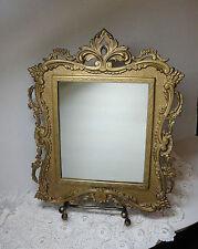 "Mirror National Bronze & Iron Works 2020A  Gold Gilding Frame 12"" x 14"" Vintage"