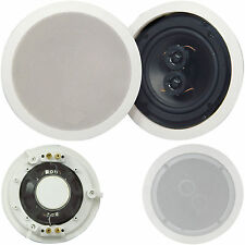 "QUALITY 6.5"" 100W Dual Tweeter Stereo Ceiling Speaker 8Ohm Compact Hi-Fi Roof PA"