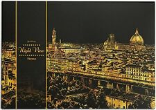 "Lago Scratch Paper Night View Map 16"" x 11"" w/ Wood Pen - Florence"