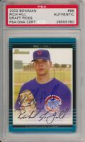 2002 Bowman Draft Picks Rich Hill Signed Card #98 PSA/DNA Auto Chicago Cubs