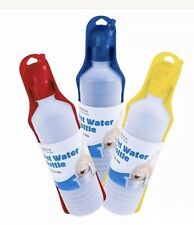 Travel Pet Dog Cat Water Drink Feed Bottle Bowl 500ml Quick Post UK SLR