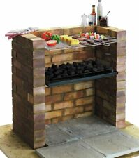 More details for outdoor charcoal bbq grill durable steel with shelf sausage burger cooking new