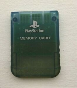 Sony PlayStation OEM Official 1 PS1 PSX Memory Card SCPH-1020 - BLUE - TESTED!