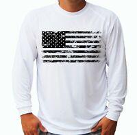 American Flag Fishing Boat Sport Long Sleeve UPF 30 T-Shirt Sun UV Protection