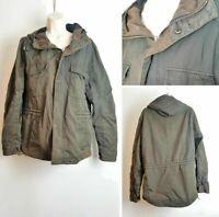 River Island Ladies Khaki Green Hooded Winter Parka Jacket Coat Medium 10-12