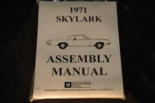 1971 Buick Skylark Assembly Manual 100'S Of Pages Of Pictures, Part Numbers &