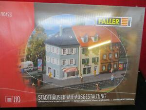Faller 190423 Stadthäuser mit Ausgestalltung Neu werkseitig ausverkauft