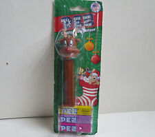 Christmas Reindeer Footed Pez Dispenser- Made in Hungary- 2014 ( Sealed)