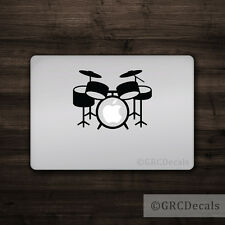 Drum Kit - Mac Apple Logo Cover Laptop Vinyl Decal Sticker Macbook Unique Music