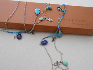 """Silpada Sterling Silver """"Earth & Sky"""" Lapis  & Turquoise Necklace N2855  340606"""