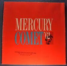 1962 Mercury Comet Large Catalog Sales Brochure Nice Original 62