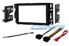 DOUBLE 2 DIN CAR STEREO RADIO DASH INSTALLATION BEZEL KIT WITH WIRING HARNESS