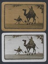 #150.370 vintage swap card -NEAR MINT pair- Camels, gold & silver gilded