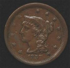 1857 Large Cent, Small Date, nice XF, good color, very scarce and underrated!