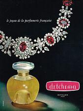 PUBLICITE ADVERTISING 024   1964   REVILLON   parfum DETCHEMA