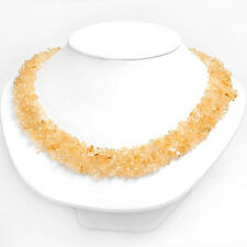 Lovely Necklace W/333.00 CTW Genuine Citrine Made of 925 Sterling silver