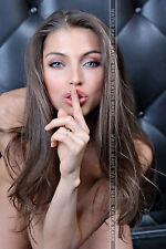 233 SEXY ART DECAL STICKER PIN UP GIRL BEAUTIFUL BLUE EYE BRUNETTE CUTE LADY