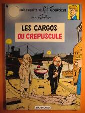 Gil Jourdan Tome 4  les cargos crépuscules -Tillieux - Editions DUPUIS