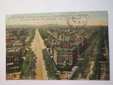 Paris Panorama sur les Avenues du Bois-de-Boulogne et de la Grande-Armée 1923 AK