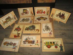 Tintin-Hergé-Lombard-Casterman-Lot Chromos,point Tintin-l automobile-Années 50