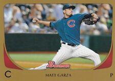 CHICAGO CUBS MATT GARZA 2011 BOWMAN GOLD #188