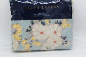 Ralph Lauren Cassie Anitra Floral KING Duvet Cover 300TC Cotton Celadon $430