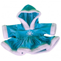 "SPARKLY BLUE SNOWFLAKE DRESS  - FITS 16"" /40cm BUILD A TEDDY BEAR CLOTHES"