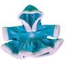 "SPARKLY BLUE SNOWFLAKE DRESS  - FITS 16"" /40cm BUILD A TEDDY BEAR CLOTHES"