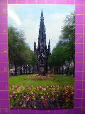 Vintage THE SCOTT MONUMENT, Edinburgh, Scotland POSTCARD Colour 14x9cm Unposted