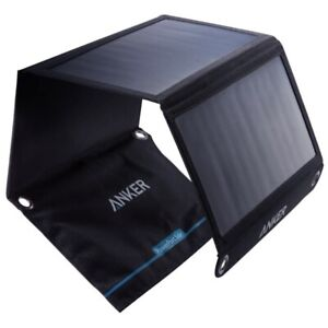 Anker 20w 3a Foldable Portable Solar Sun Charger USB Dual Port for iPhone US