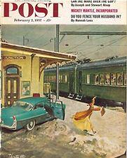 The Saturday Evening Post February 2 1957 Thornton Utz Vintage Americana